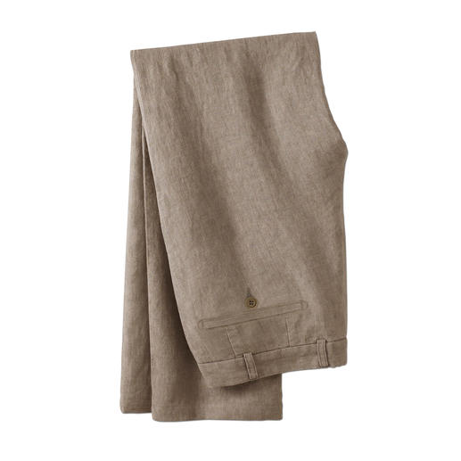 Ormezzano Linen Trousers Ormezzano in Italy weaves airy linen that's even suitable for formal business trousers. Ideal summer trousers.