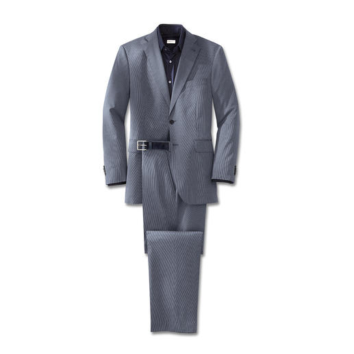 """Mille Rayé"" Suit Made from fine cotton/wool cloth with nano finish."