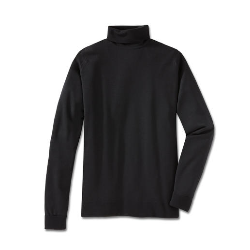 Polo Neck Pullover, Black