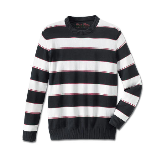 "Pima Sweater ""Maritime Stripes"" Light, airy and soft to the touch against bare skin: A jumper made of rare Pima cotton."