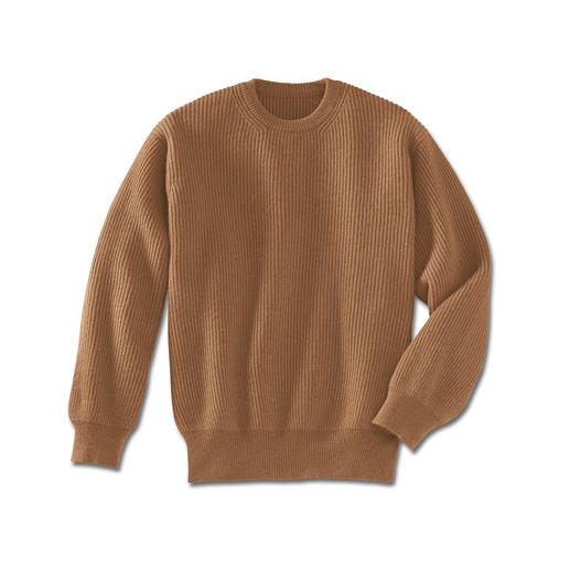 The luxury of a genuine camel hair pullover. The luxury of a genuine camel hair pullover.