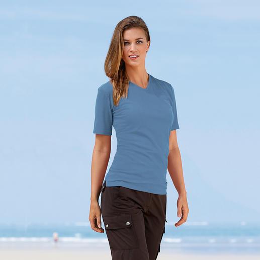 SunSelect® T-shirt Looks good, feels good and has the same effect as a good sun cream.
