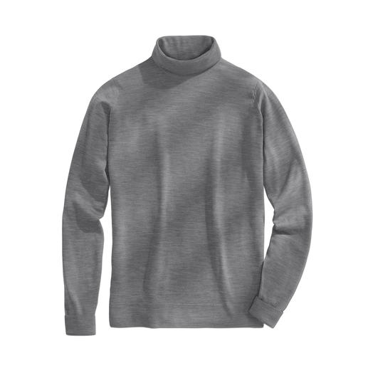 John Smedley Polo Neck Pullover This pullover made from fine Merino wool by John Smedley weighs less than 10.6oz. Fits any briefcase.