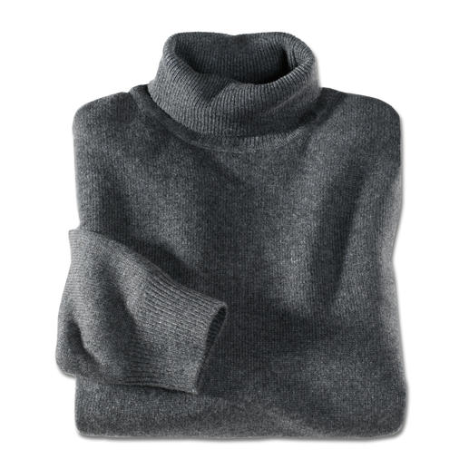 Polo Neck Pullover, Anthracite