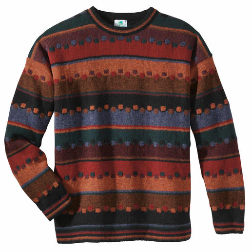 """Irish Autumn"" Pullover Fine, handcrafted jacquard design made from strong, pure virgin wool."