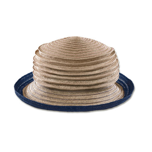 Mayser Accordion Hat The stitched-cord accordion hat in hemp: The nearly indestructible hat that you can fold up.