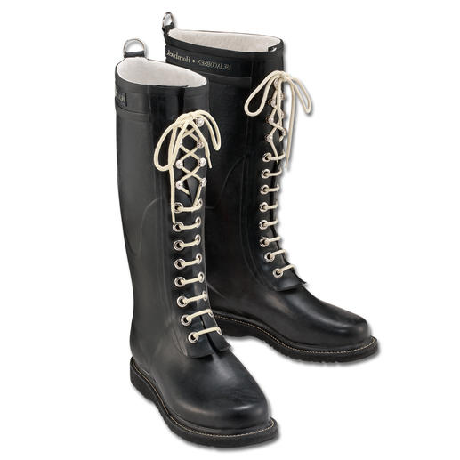 The design classic among wellies: The lace-up boot by Ilse Jacobsen, Hornbaek. The design classic among wellies: The lace-up boot by Ilse Jacobsen, Hornbaek.