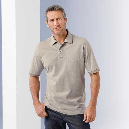 Pima Cotton Mélange Polo As comfy as a polo, as appropriate as a shirt under a sports jacket.