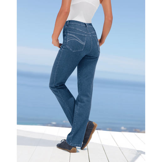 Magic-Jeans These Magic-Jeans shape your figure like a corset – and are still extremely comfy.
