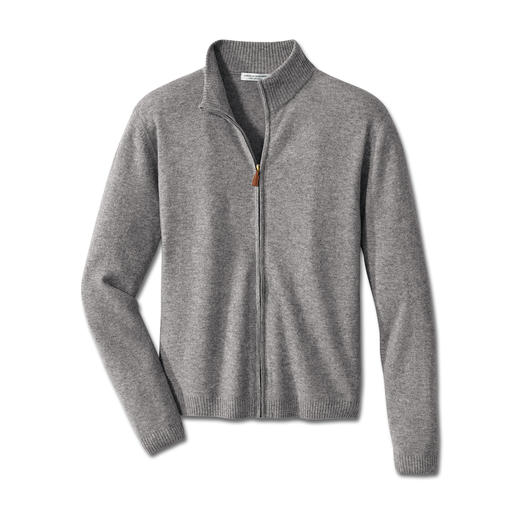Cashmere Sweat Jacket Simple look, superior comfort. The classic sweat jacket. In sumptuous Mongolian 2-ply cashmere.