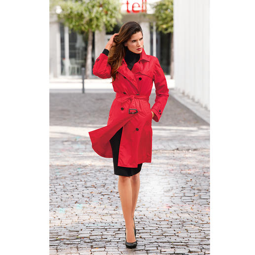 Knirps® Rain Trenchcoat, Women Water-repellent and breathable. Stowable and wonderfully light. Washable and quick-drying.