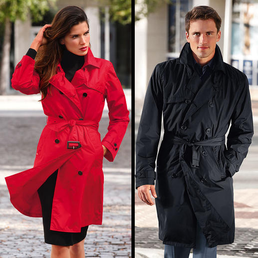 Knirps® Rain Trenchcoat Water repellent and breathable. Easy to store and wonderfully light.  Washable and quick to dry.