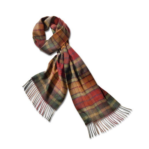 Autumn Buchanan tartan in pure cashmere. Autumn Buchanan tartan in pure cashmere. Centuries old – now rediscovered.