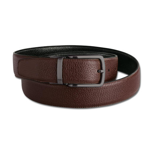 "Possum® Elastic Reversible Belt The stretchy reversible buckskin belt with 2"" of additional comfort. Handmade in Spain."