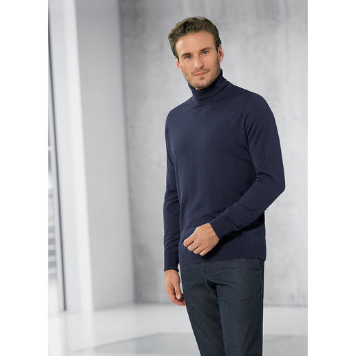 Polo Neck Pullover, Navy