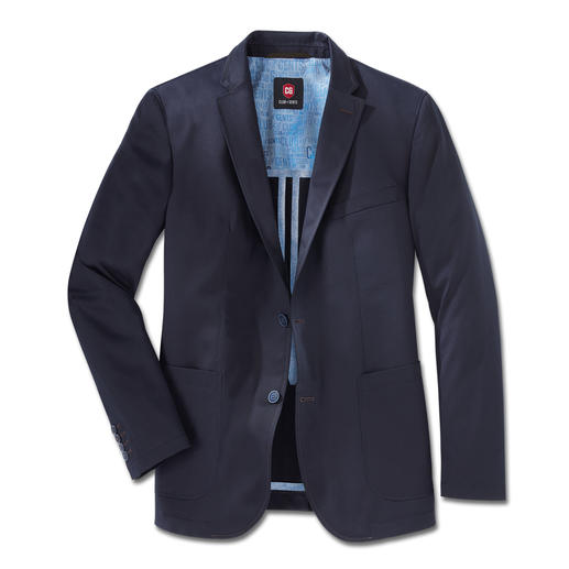 Carl Gross Pima Cotton Jacket Classy, subtle sheen. Brilliant colour. Soft to the touch. Hardly creases.