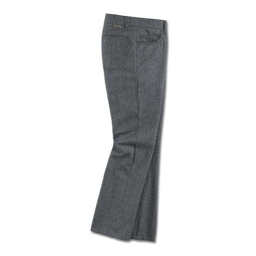 5-Pocket Woollen Trousers Surprisingly soft. Incredibly hardwearing. (And pleasingly inexpensive.)