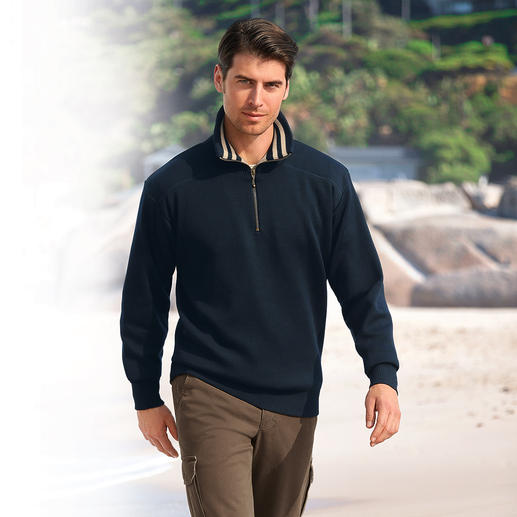 Weather Pullover Your most sensational weather protection is a nice pullover. Warm, water-repellent, windproof.