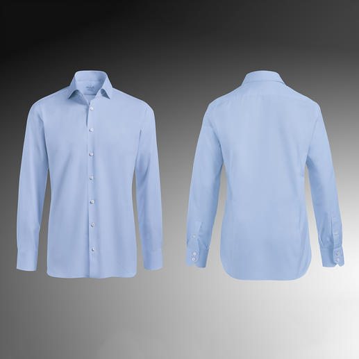 Tailor Fit, single button cuffs, Light Blue