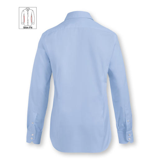 Slim Fit, single button cuffs, Light Blue