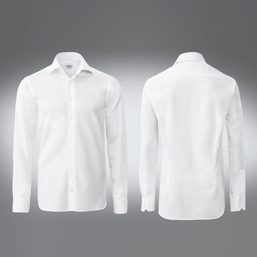 Tailor Fit, single button cuffs, White