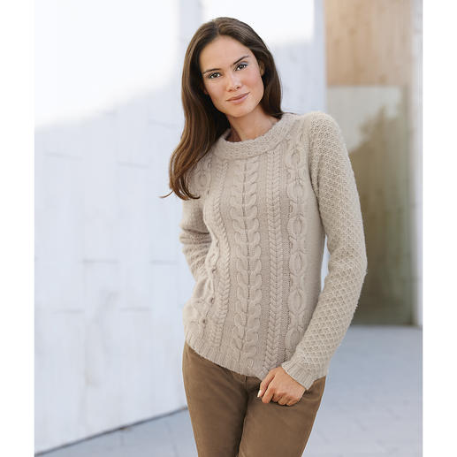 FTC 5-Ply Cashmere Cable Jumper Only 130 pieces worldwide: Pure 5-ply cashmere, undyed.