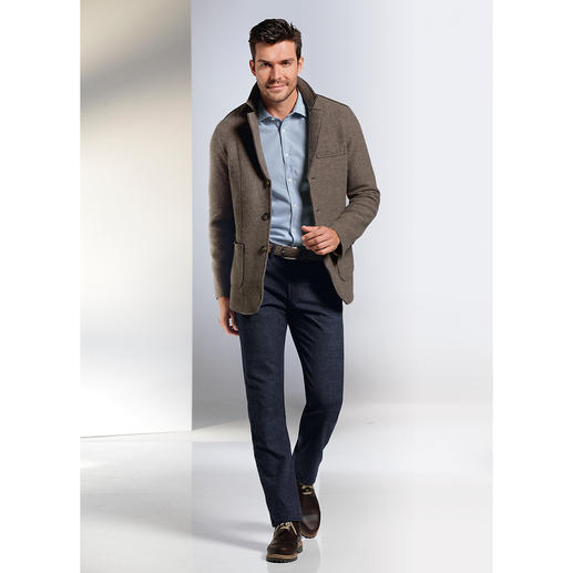 Phil Petter Milled Merino Wool Jacket As lightweight and comfy as a classic milled wool jacket, but more modern.