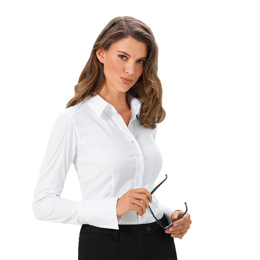 """van Laack Basic Blouse """"Cup Sizes"""" Perfect fit in bust and waist. Thanks to 3 different """"cup"""" sizes. By van Laack,  Germany's blouse specialists."""