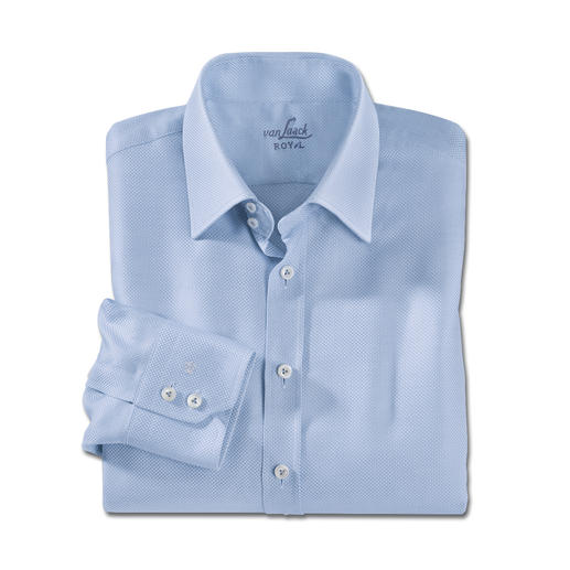 van Laack Panama Business Shirt A casual shirt with a business upgrade: Finally, an airy Panama weave shirt that can be worn with a suit.