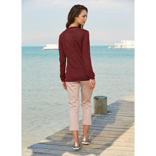 Phil Petter Knitted Linen Cardigan In summer, it is more pleasant, smarter and more beautiful than any tailored jacket.