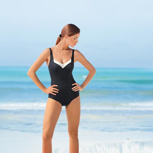 "The ""Slenderiser"" Visibly slimmer. MicroForming® shapes your figure without pinching."