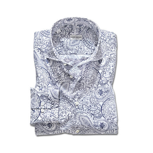 Claude Dufour Paisley Shirt A classic design on ties. Red-hot as a shirt: The paisley pattern.