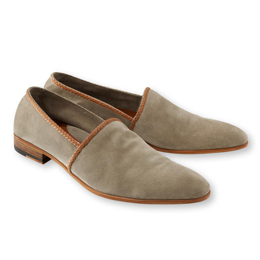 Piaceri Barefoot Slip-On The elegant slip-ons to wear with lightweight summer suits.