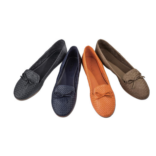 Nurage Woven Leather Slip-On Probably the airiest slip-ons you'll ever own : unlined, woven leather lets your feet breathe.