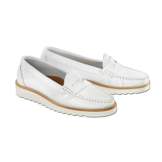 """Soft Sole"" Penny Loafers A light 5.6 oz. Extremely flexible. Shock-absorbent. Great for long distances."