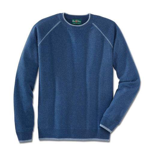 Alan Paine Cashmere Pullover As comfortable as your favourite sweatshirt. But made of the finest Mongolian cashmere.