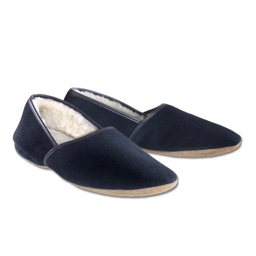 Derek Rose Gentleman's Slipper Sheepskin slippers for gents. Made in England. By Derek Rose.