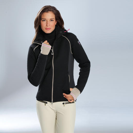 "Knitshell™ Ladies' Jacket As functional as softshell, as stylish as knitwear: ""Knitshell™"" by Dale of Norway."