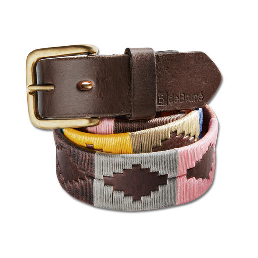 """dB Polo Belt """"Buenos Aires"""" Once the symbol of international polo teams. Today a fancy fashion accessory."""