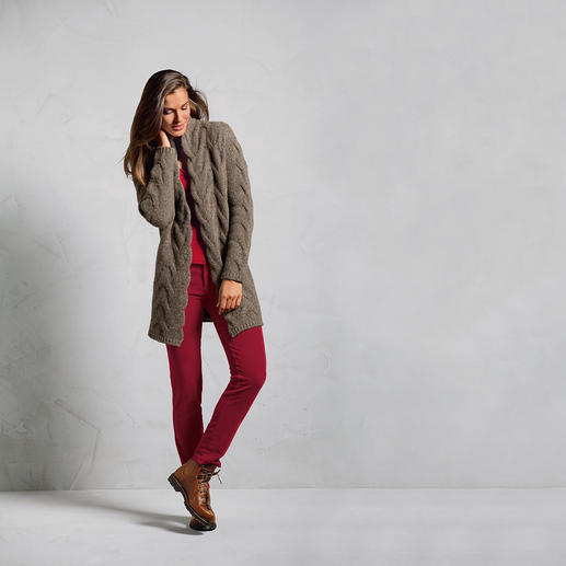"""Heartbreaker"" Donegal Cardigan Softer, slimmer, more feminine: A facelift for the Donegal cardigan. Enhanced with 50% cashmere."