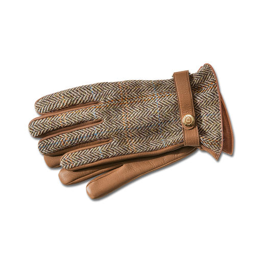 Dents Harris Tweed Gentlemen's or Ladies' Gloves Luxury gloves by Dents. Made from original Harris Tweed and rare buckskin.