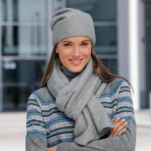 2-Ply Cashmere Beanie or Scarf The elegant appearance of 2-ply cashmere. Yet as substantial and warm as 4-ply.