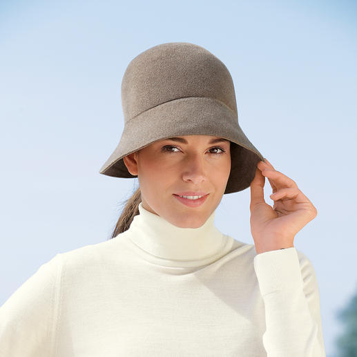 Ellen Paulssen Weather Cloche Smart and won't mess your hair: The 1920s cloche hat – in velvety soft fur felt.