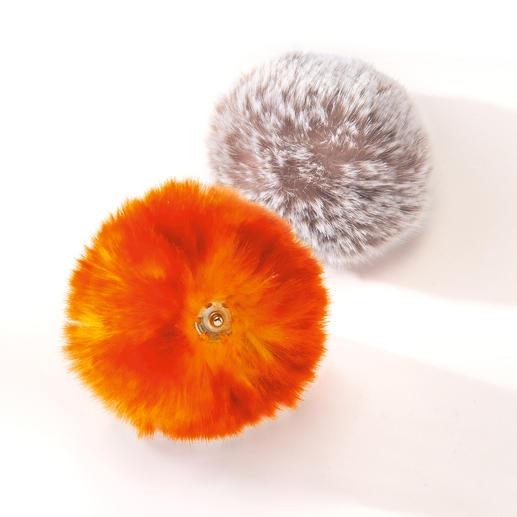 Interchangeable Pompon Hat A fabulous new approach to the fur pompon craze.
