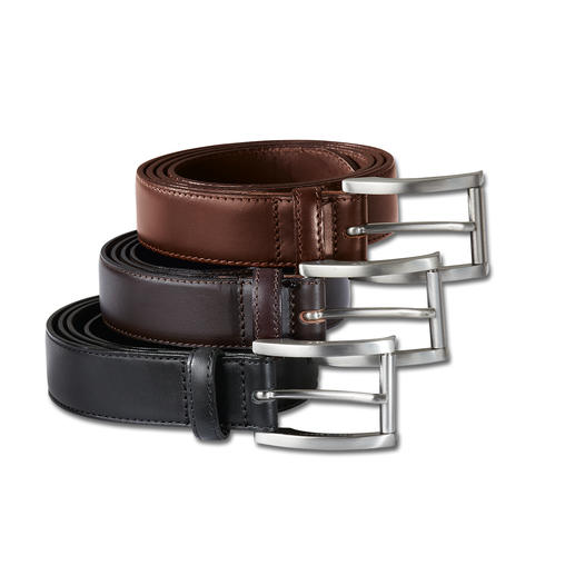 Full-Grain Leather Belt - Handwork, solid brass and cowhide leather. Hidden quality.