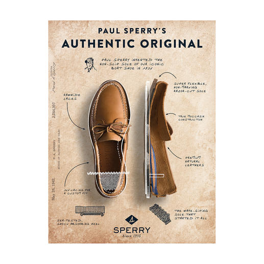 Sperry Top-Sider Original Deck Shoe The prototype for all deck shoes. Hand-sewn. Non-slip. And lined with soft deerskin.