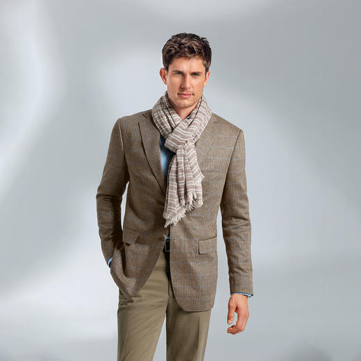 Di Pray Silk Jacket, Herringbone, Brown - Ideal for summer – the jacket in pure silk. Its subtle colours suit all plain colours.