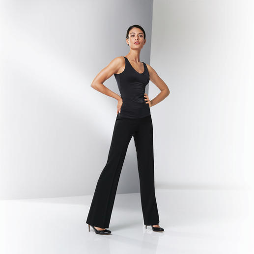 Seductive Flared Business Trousers Fashionable business-friendly flared trousers. Adult cut. Fine fabric. Classic black.