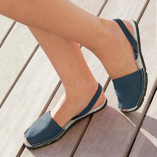 Avarcas de Menorca, Denim The traditional Menorca sandal: Handmade. Ideal for even