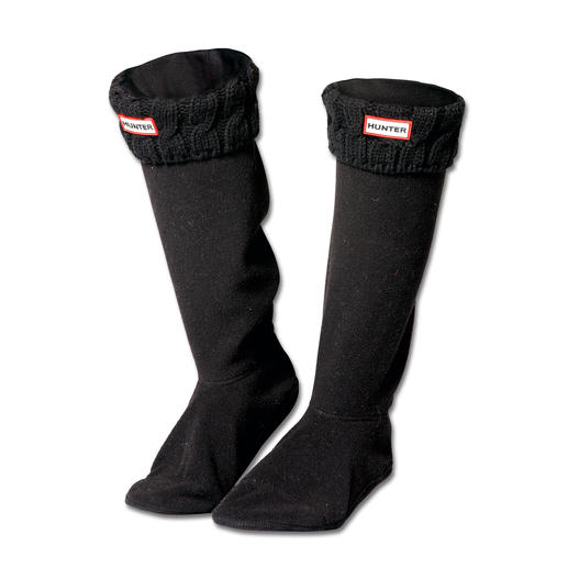 Hunter Boot Socks Stylish fleece socks by Hunter: A warm upgrade for your wellingtons. By the makers of the legendary boots.